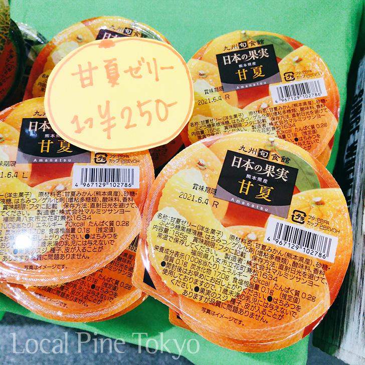 NPO法人ローカル・パイン・トーキョー マルシェ熊本県 美味しい 果実 ゼリー 甘夏
