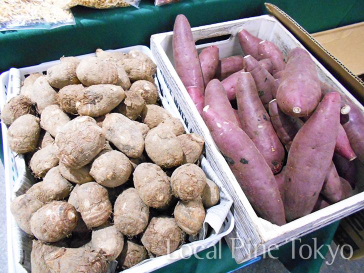 NPO法人ローカル・パイン・トーキョー マルシェ 熊本県 美味しい 南阿蘇村 新鮮 野菜 物産品 里芋 紅はるか サツマイモ